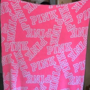 PINK discontinued polyester blanket